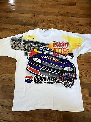 Vintage 90s Charlotte Coca Cola 600 Double Sided Racing Shirt XL Nascar 1998