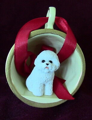 Bichon Frise in a teacup ~ Proceeds to Red Leash Rescue