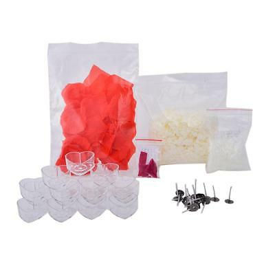 DIY Candle Material Kit Tool Set Soy Candle Wax Wicks Beeswax Heart Box Making