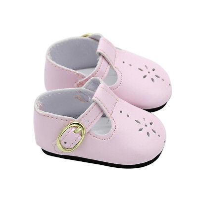 18 Baby  Doll Shoes Pink Leather Shoes Fit Zapf Doll Accessories Girl new
