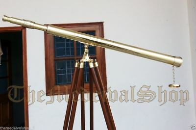 Brass Marine Tripod Telescope Vintage Style Collectible Port Island Antique Gift