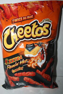 Cheetos XXTRA Flamin' Hot Crunchy Cheese Flavored Snacks 240.9g bag