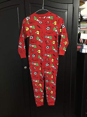 Boys Girls Kids Angry Birds Football Whistles All in One Pyjamas 6-7