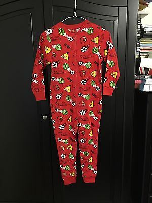 Boys Girls Kids Angry Birds Football Whistles All in One Pyjamas 8-9