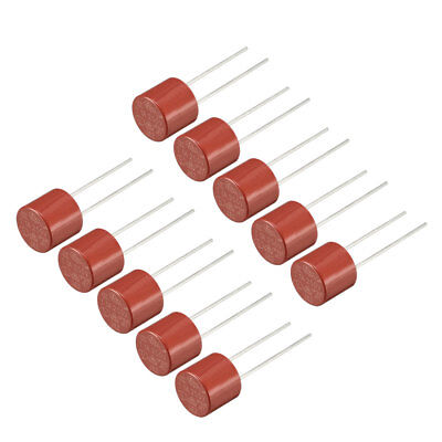 10Pcs DIP Mounted Miniature Cylinder Slow Blow Micro Fuse T1A 1A 250V Red