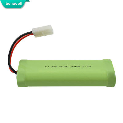 Hot Airsoft Battery 7.2V 3000mAh For Tamiya Connector RC Cars Truck Airplane TP