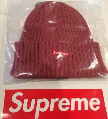 44127cd0c66 Supreme Authentic Over Dyed Ribbed Beanie Washed Magenta(Sold Out)SS18