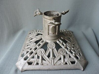 Antique Cast Iron Christmas Tree Stand CANDLES, Circa 1930's From Germany