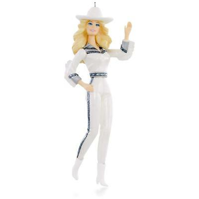 Gorgeous Western Star 2015 Hallmark Barbie Doll Christmas Ornament Cowgirl Rodeo
