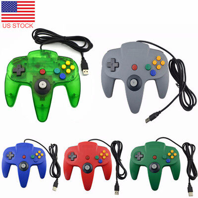 New Wired Game USB Controller Gamepad Joystick for Nintendo 64 N64 Tablet/ PC US