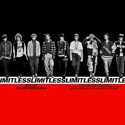 NCT127-[NCT #127 Limitless]Random CD+Book+2Poster/On+Card+Sticker+Gift Sealed