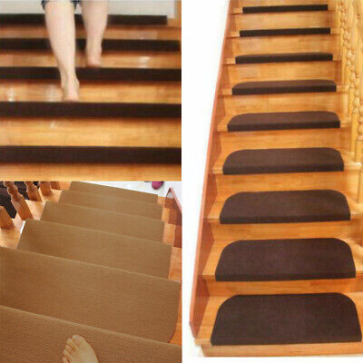 Non-slip Adhesive Protection Cover Carpet Stair Treads Mats Staircase Step Rug