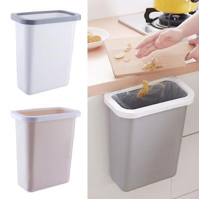 Kitchen Cabinet Door Basket Hanging Trash Can Waste Bin Desktop Garbage Bowl Box