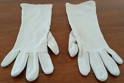 Vintage 60s GLOVERS Hong Kong Nylon BEIGE Mid Length Day GLOVES One Size
