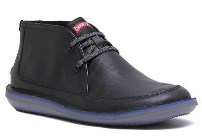 e33696b8c6850 Camper Beetle Boots Mens Leather Black Matt Ankle Boots UK Size 6 - 12