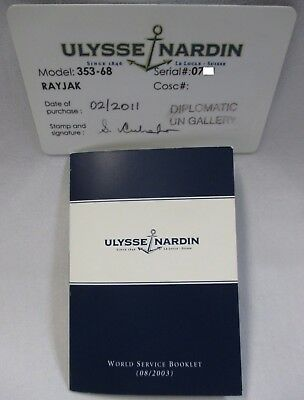 Ulysse Nardin Maxi Marine Chronograph 353-68 Guarantee Certificate Card +Booklet
