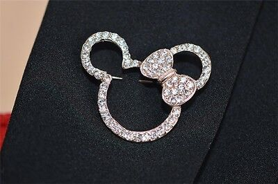 Minnie Mouse Pin Brooch Mickey Jewelry Walt Disney World Land Trip Cruise Usa