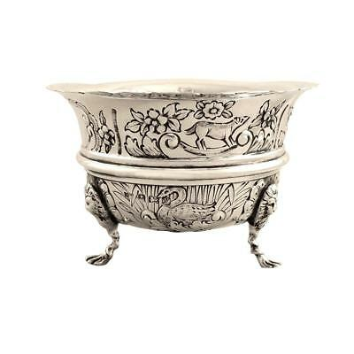 Antique Sterling Silver 'animals' Bowl - 1923