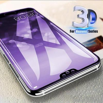 Genuine 5D Full Cover Tempered Glass 9H Screen Protector Fr Huawei P20/Pro/Lite