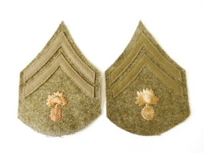 U.S. Army WWI, Pair Corporal Ordnance department patches