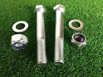 PAIR Tow Bar / Tow Ball Bolts 110mm Long C/w  Nyloc Nuts & Washers  8.8 Tensile