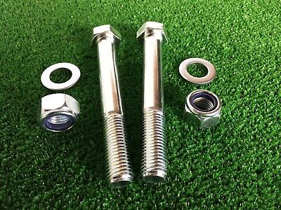 PAIR Tow Bar / Tow Ball Bolts 120mm Long C/w  Nyloc Nuts & Washers  8.8 Tensile
