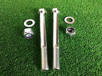 PAIR Tow Bar / Tow Ball Bolts 160mm Long C/w Nyloc Nuts & Washers 8.8 Tensile
