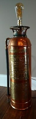 Antique Brass and Copper Fire Extinguisher Lamp