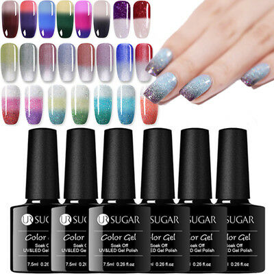UR SUGAR Nail Art Gel UV de Uñas Térmico Color Changing UV Gel Polish Soak off