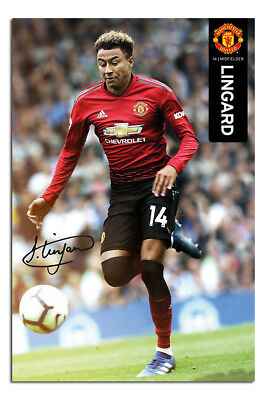 Manchester United Jesse Lingard 2018 - 2019 Poster New - Maxi Size 36 x 24 Inch