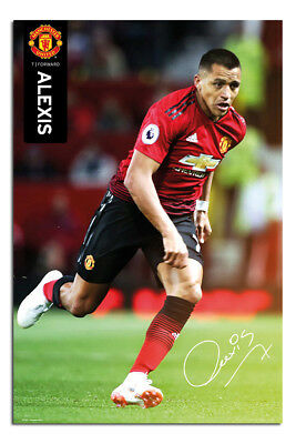Manchester United Alexis Sanchez 2018 - 2019 Poster New - Maxi Size 36 x 24 Inch