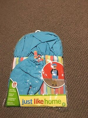 Kids chef hat and apron set - size 3+ Brand new in package