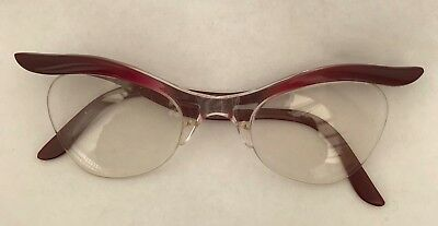 Vintage Pair Of Ladies Retro 50's 60's Spectacles Glasses Steampunk Cosplay