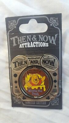 Walt Disney World Winnie The Pooh Mr Toad's Wild Ride Then & Now Pin LE 1000