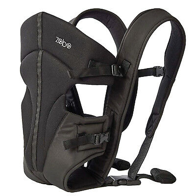 """Babies """"R"""" Us Zobo 3 Position Black Baby Carrier Backpack with Adjustable Straps"""