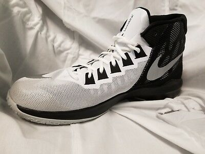 c175d0146dc ... NIKE MENS ZOOM Devosion White Basketball Shoes Size 12 844592 Worn