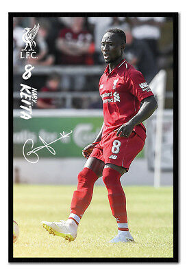 Framed Liverpool FC Naby Keita 2018 - 2019 Poster New