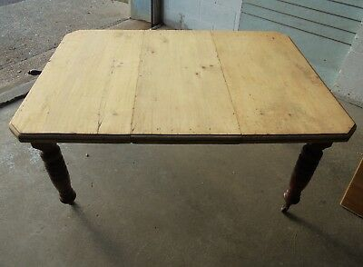 Antique Extending Joseph Fitter Victorian Wind Out Pine Kitchen Dining Table
