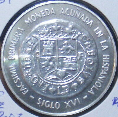 1975 Dominican Republic 10 Pesos 'International Banker's Conference' Proof KM#37