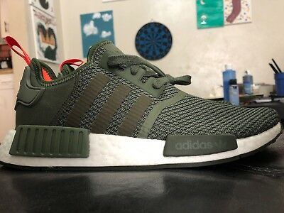 165a937a5f2f9 Ds Nib Mens Adidas Nmd R1 Nomad Olive B37620 Runner Sz 8. ADIDAS NMD R1  WHITEOUT BLACKOUT BOOST ...