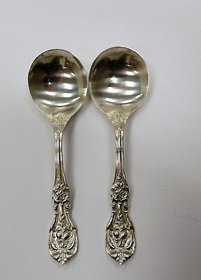 Pair of Reed and Barton Francis 1 Cream Soup Spoons  Excellent Condition