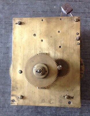 Antique Clock Movement for Spare Parts  or Repair 150x120mm