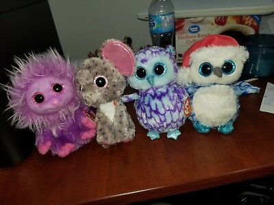 Specks, Zippy, Icicles, Oscar : Four adorable Beanie Babies priced to SELL!