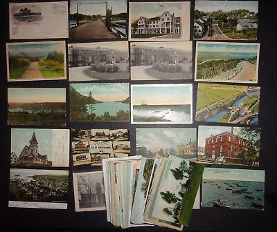 Collection of 100 US Maine Me. postcards lot buildings houses scenery ID #569
