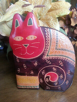 Unique & Unusual* Laurel Burch Cat Lover * Designer Leather Bank