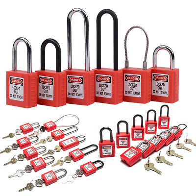 Compact Safety Isolation Insulation Lockout Tagout Safe Loto Padlock With 2 Keys