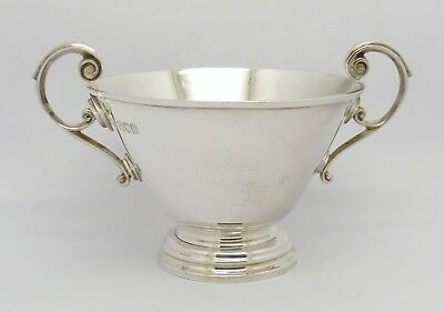 ELEGANT ANTIQUE VICTORIAN SOLID SILVER TWIN HANDLED BOWL HM 1900 VERY HEAVY 191g