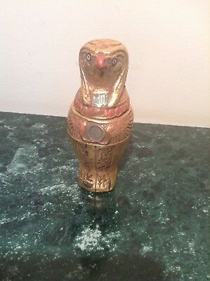 Rare Antique Ancient Egyptian Canopic jar God Horus intstines mummy 1780-1670BC