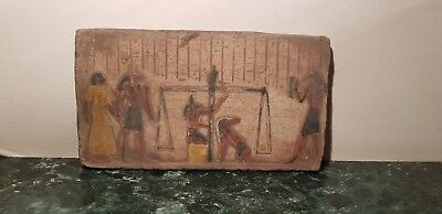 Rare Antique Ancient Egyptian Stela Judgement Day God Anubis Toth 1760-1650BC