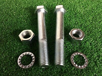 Tow Bar / Tow Ball Bolts M16 x 110mm Long C/w Nuts & Washers 8.8 HIGH TENSILE